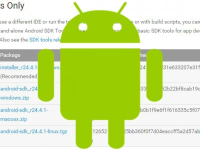 Download and install Android SDK Tools